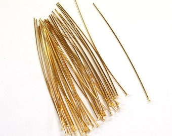 50 x pc's of Gold Electroplated Tarnish Resistant 70mm Head Pins