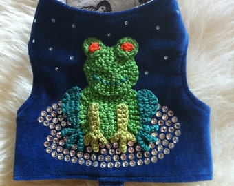 Small Dog Harness - The Frog Harness, by La Maison Vienna Couture Canine