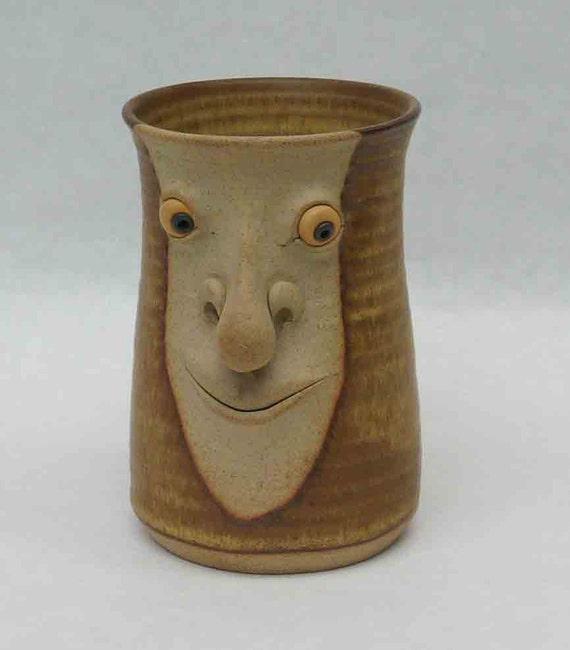 Rustic Copper Pail Pendant Light By Cre8iveconcrete On Etsy: Vintage Muggins Pottery Face Mug English Eclectic Partial