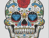 Sugar Skull Cross Stitch Pattern