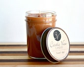 Caramel Apple Scented 8oz Mason Jar Soy Scented Candle