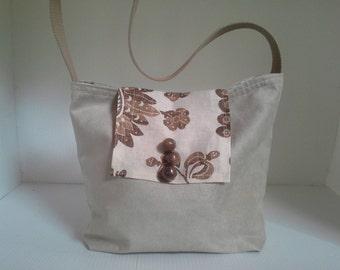 Micro Suede Cream color purse