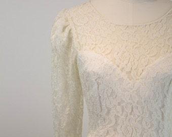 Vintage 1970s Ivory Lace Dress - Kylie Dress