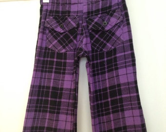 purple plaid pants – Etsy SG