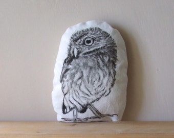 Owl woodland pillow plush owl woodland home decor stuffed animal rustic soft sculpture little cushion
