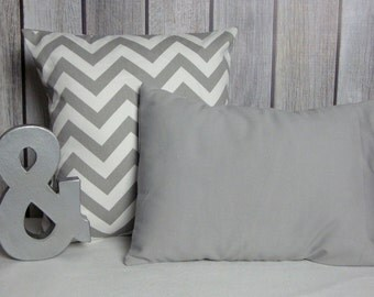 Grey Pillows. Chevron Pillows. Throw Pillows. Pillow Covers. Solid Grey Pillows. Modern Pillows. Pillows