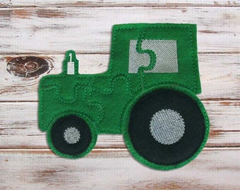 Toddler Puzzle - Felt Tractor Puzzle - Green - Travel - Felt Toys - Learning - Educational Toys