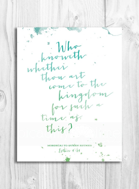 Queen Esther illustrated print - 11x14 or 8.5x11 printable