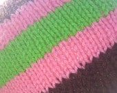 Pink Green Brown Turn a Square Knit Hat