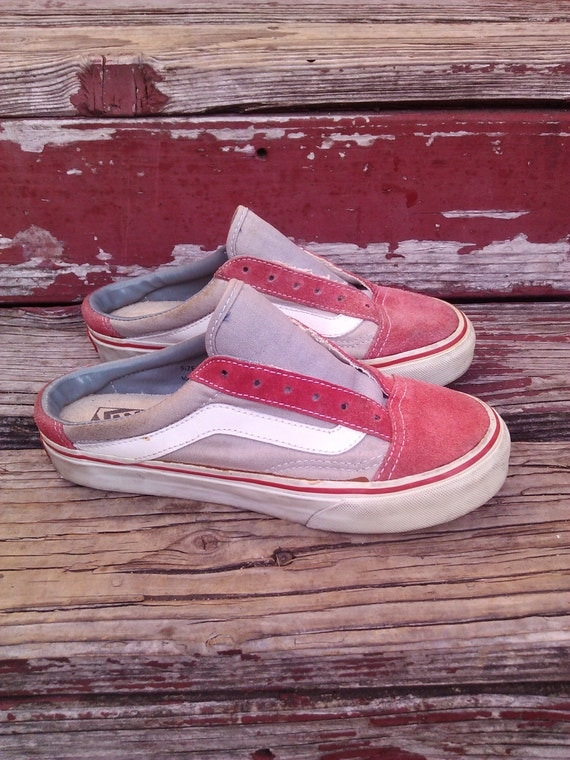 vintage 90s vans slip on skater skateboard shoes womens 6 6 5