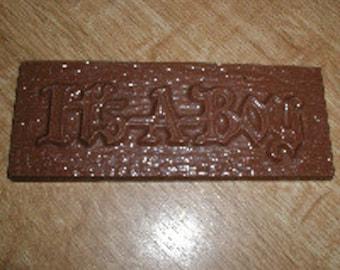 It's A Boy Bar / Card Chocolate Mold