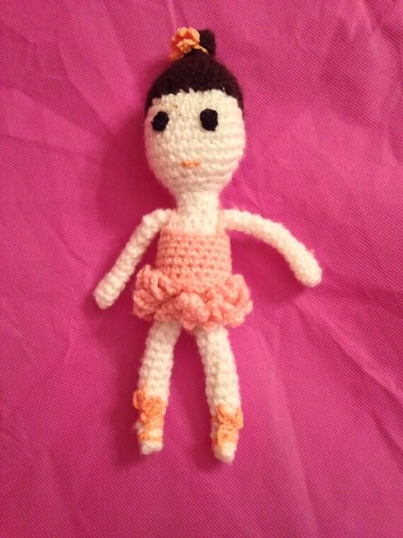 Amigurumi Ballerina Doll : Crochet Ballerina Doll Amigurumi Doll Choose the Skin Tone