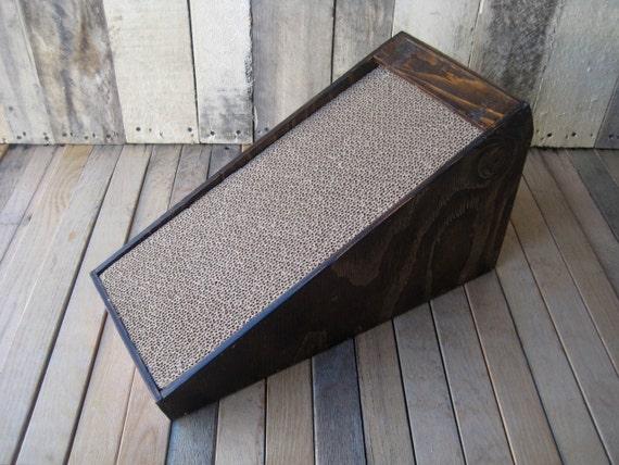 Reclaimed Wood Cat Scratcher, Salvaged Wood Cat Scratcher, Reusable Cat Scratcher, Cat Furniture -- Free Shipping