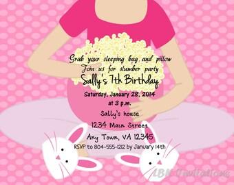 Sleepover Birthday Invitation (Girl)
