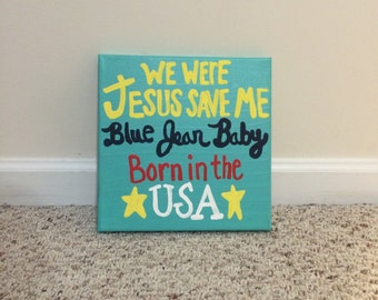 Dorm Blue Jean Baby Lyric Canvas