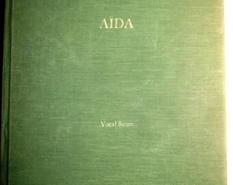 1963 Verdi AIDA Vocal Score by G. Schirmer RARE BOOK