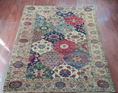 Colorful amazing Turkish carpet rug from Turkey, area rug
