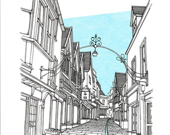 Cheap Street, Frome Limited Edition Print