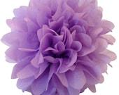 14 inch Lilac Tissue pom pom/party poms/birthday pompoms/DIY/Baptism/baby shower/hanging poms/nursery pom pom/pompoms/party decorations