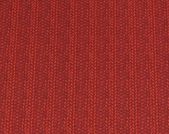 Per Yard, Realistic Knitting Fabric Print Red From Quilting Treasures