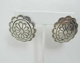 Sterling Native American Inspired Earrings Item W-#515