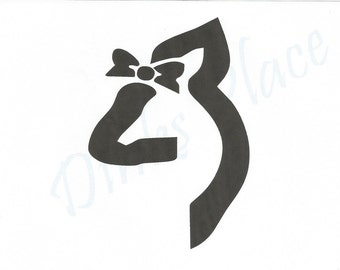 Browning girl deer head with bow vi nyl decal