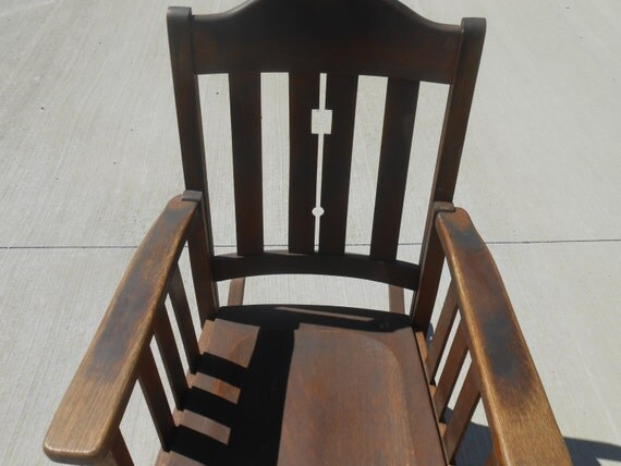 Vintage Wood Chair Mission Furniture Phoenix Chair Company.