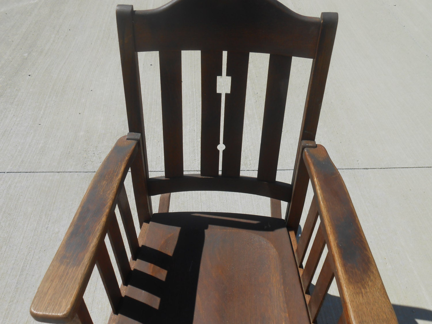 Vintage Wood Chair Mission Furniture Phoenix Chair Company