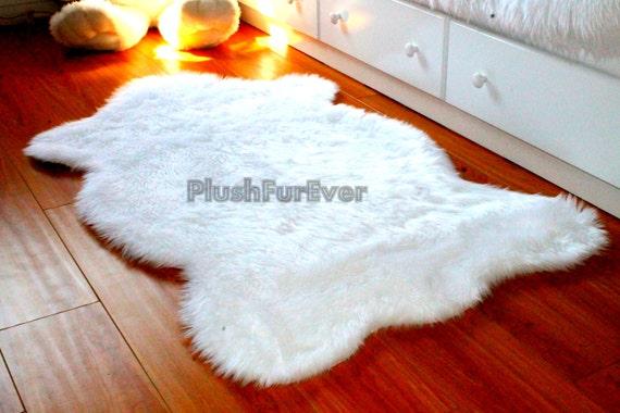 Sheepskin faux fur rugs flokati luxury shaggy home decor - Faux animal skin rugs ...