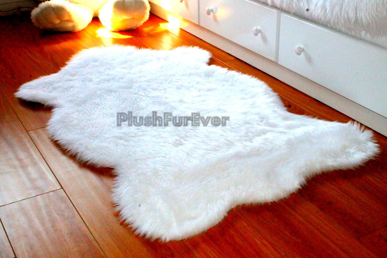 Sheepskin Faux Fur Rugs Flokati Luxury Shaggy Home Decor