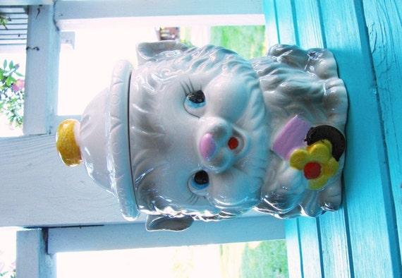Sale Vintage Cooke Jar Ceramic Cat Cookie Jar Vintage Cat