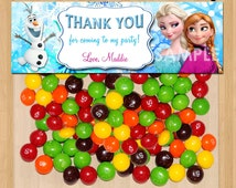 Disney Frozen Favor Bag Toppers - Frozen Birthday Printable for Party Treat Candy Loot Bags matches Invitation Elsa Anna Olaf