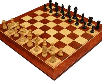 """Solid hardwood Tiger Maple & Bloodwood chess boards have 2 1/2"""" squares and are 24"""" x 24"""" by 1"""".  Handmade by Westwood Woodworking."""