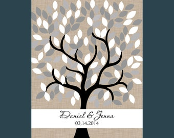 Wedding Guestbook Signature Tree, Alternative Wedding Guestbook, 150 Guests Signature Tree, Modern Guest Book,  Signature Tree