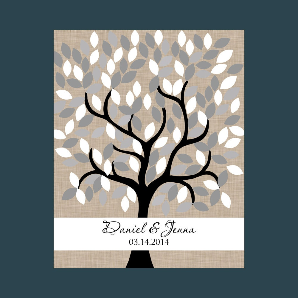 Wedding Guest Signing Tree: Wedding Guestbook Signature Tree By TheFreckledOwlPrints