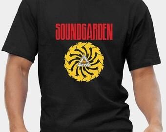 SOUNDGARDEN 2 T-Shirt Mens Black Fruit Of The Loom High Quality DTG