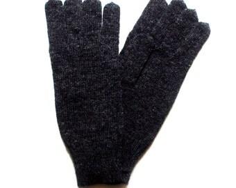 Men's knitted lambswool Gloves/mens winter gloves/wool mittens/gray/black/dark blue