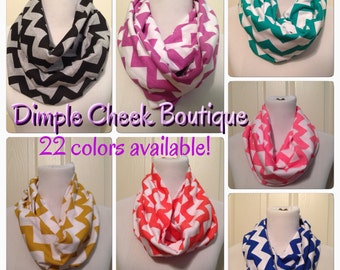 22 colors available-Chevron Scarf-- any 2 for 25.00 now available in infinity or non infinity