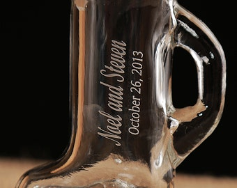 Boot Shot Glasses, Six 1.5 oz  Engraved, Wedding Favors - personalized - redneck