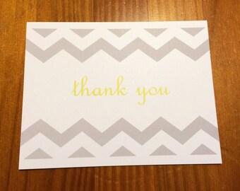 Chevron Thank You Notes (Set of 5)