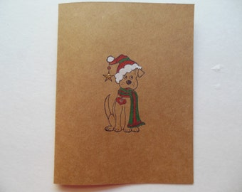 Dog Christmas Card, Dog Holiday Card, Pet Lover Christmas Card, Non Religious Holiday Card