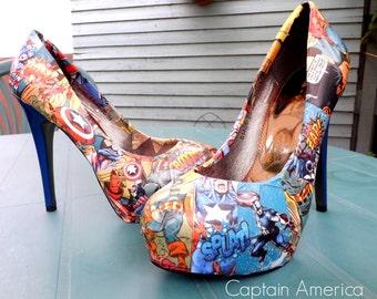Size 5-6 custom made comic book heels