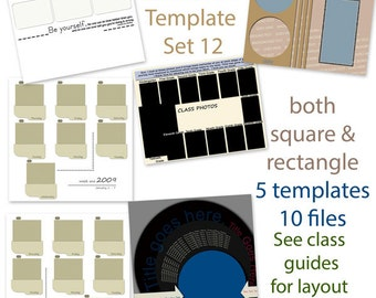 Digital Scrapbooking Template Set 12