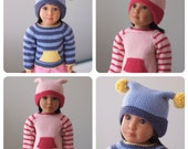 Scooter Sweater and Hat for Slim 18 Inch Play Dolls Like Kidz 'n Cats - Knitting Pattern