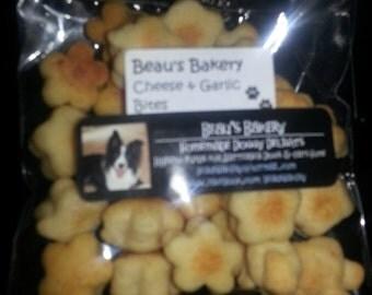 Homemade Dog Treats: Cheese & Garlic Biscuit Bites