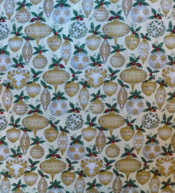 Cotton Fabric, Home Decor, Quilt, Craft, Christmas Ornaments, Gold ...