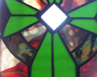 Celtic Stained Glass - Cross
