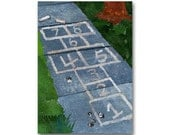 Hopscotch - Nostalgia CARD or PRINT - Childhood Memories The Good Old Days - Party Invitation - Retro Art Card (CMEM2013077)