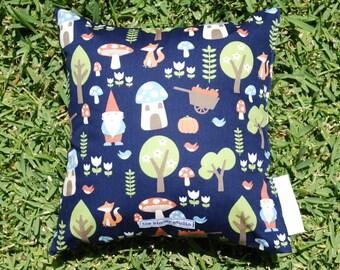 Navy Gnomes Mini Cushion