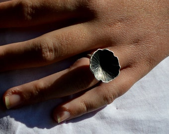 sterling silver 925 ring,oxidised ring,for her, for teens,flower ring.